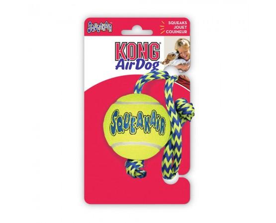 Piłka piszcząca na sznurze dla psa - KONG SqueakAir Ball