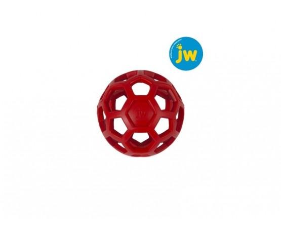 Piłka ażurowa JW HOL-EE ROLLER M 11,5 cm - czerwona