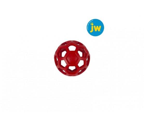 Piłka ażurowa JW HOL-EE ROLLER S 8,7 cm - czerwona