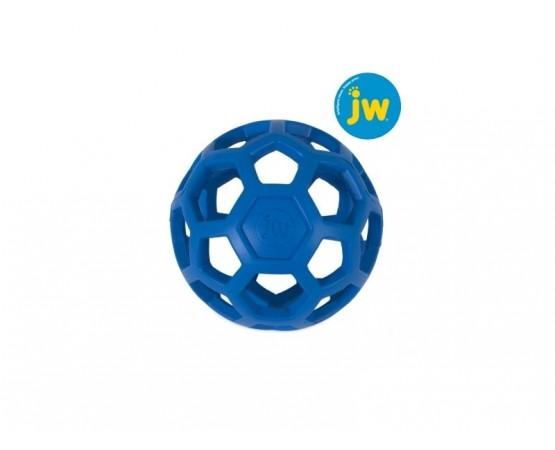 Piłka ażurowa JW HOL-EE ROLLER L 14 cm - niebieska