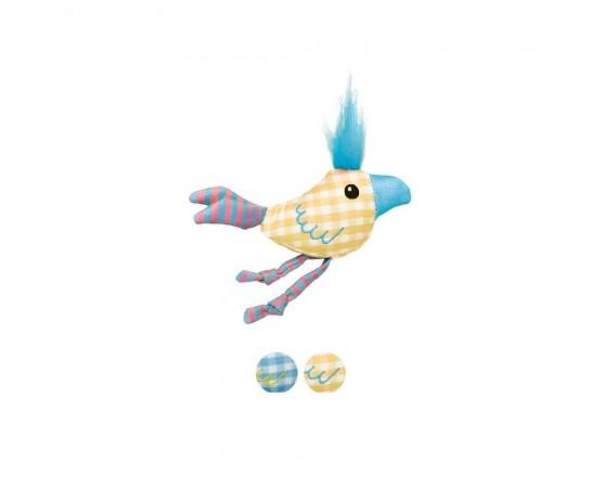 Zabawka dla kota ćwierkający ptaszek z kocimiętką - KONG Kitten Chirpz Chick Assorted