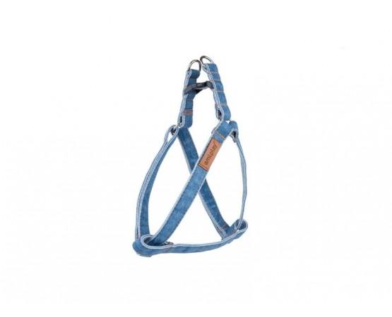 Szelki dla psa Denim regulowane 20-35 cm x 1 cm S dla małych ras niebieskie Amiplay