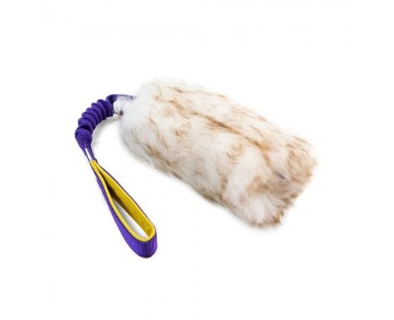 Szarpak dla psa z owczego futra z amortyzatorem – rozmiar L
