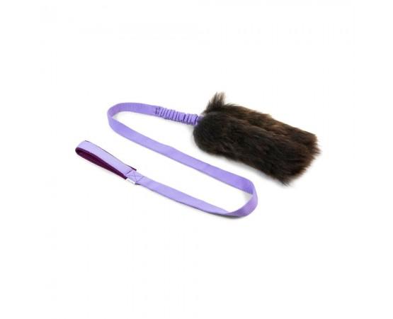 Szarpak dla psa z owczego futra z długim amortyzatorem – rozmiar L
