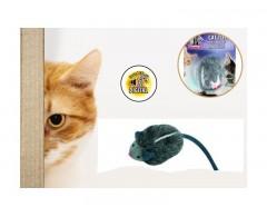 Zabawka dla kota - mysz piszcząca pod wpływem wstrząsu - Flamingo