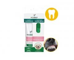 Vet's Best zestaw dla szczeniąt – pasta do zębów i sylikonowa szczoteczka