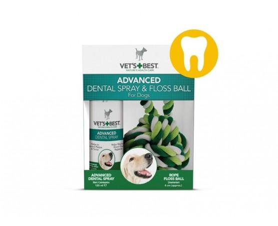 et's Best zestaw dentystyczny dla psa: spray 120 ml + bawełniana piłka