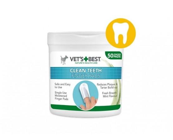 Vet's Best Dental czyściki stomatologiczne na palec 50 szt.