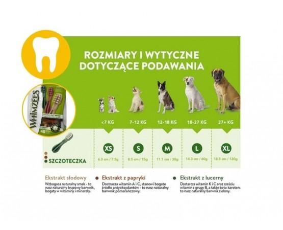 Gryzak dentystyczne dla małych psów XS 48 szt. szczoteczka - WHIMZEES DENTAL