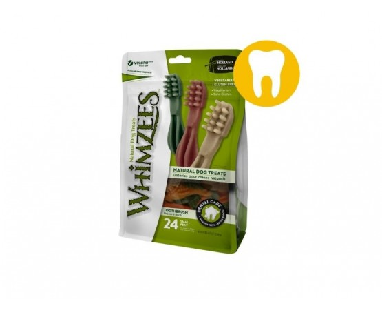 Gryzaki dentystyczne dla małych psów S 24 szt. szczoteczka - WHIMZEES DENTAL