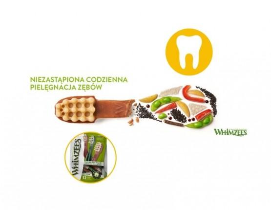 Gryzaki dentystyczne dla średnich psów M 12 szt. szczoteczka - WHIMZEES DENTAL