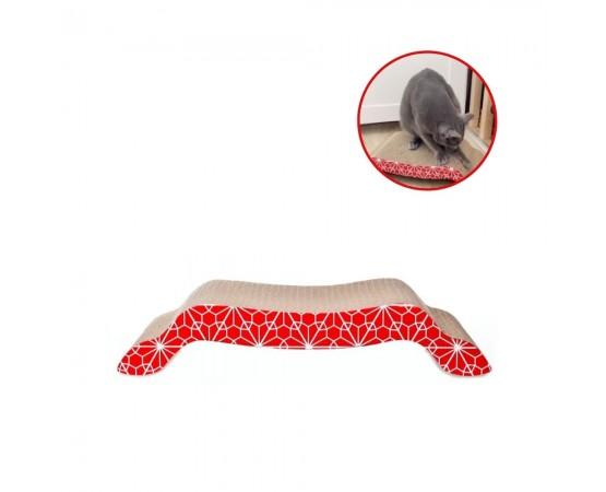 Drapak dla kota EKO 41 x 21 x 8 cm czerwony