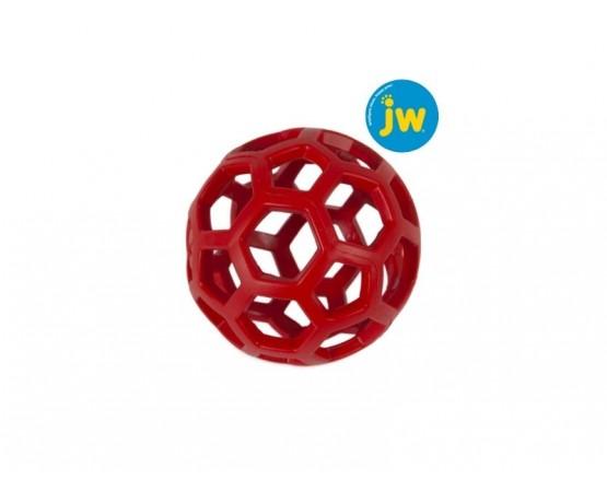 Piłka ażurowa JW HOL-EE ROLLER rozmiar L 14 cm - czerwona