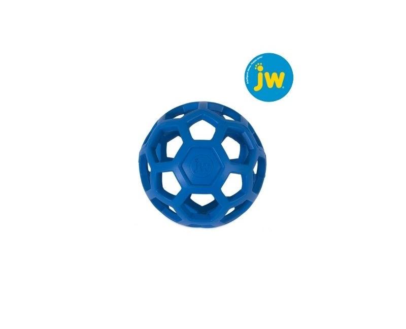Piłka ażurowa JW HOL-EE ROLLER rozmiar M 11,5 cm - niebieska