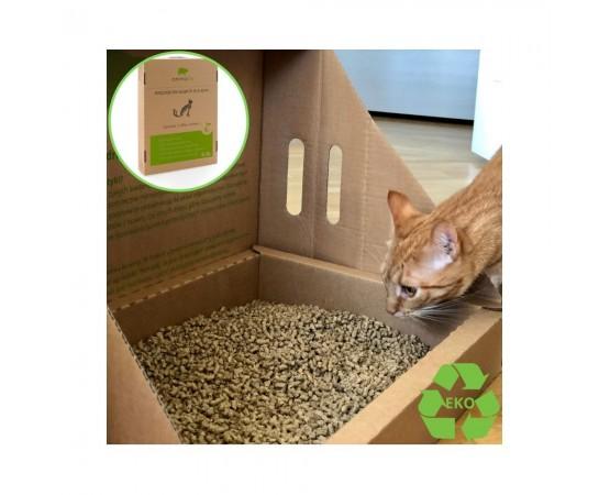 Eko kuweta dla kota i eko żwirek 6,5 litra Animalife