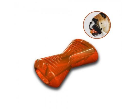 Bionic Bone - super wytrzymała zabawka dla psa - rozmiar M 15 cm pomarańczowa