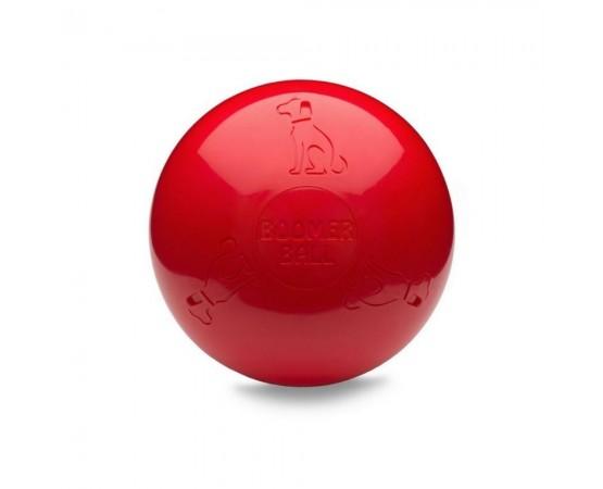 Boomer Ball - uciekająca super wytrzymała piłka dla psa - rozmiar M 15 cm czerwona