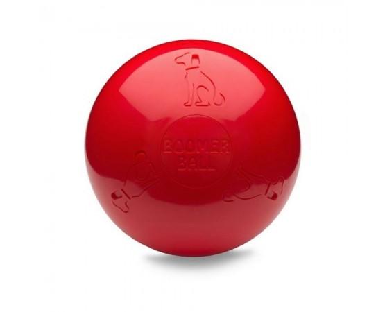 Boomer Ball - uciekająca super wytrzymała piłka dla psa - rozmiar L 20 cm czerwona