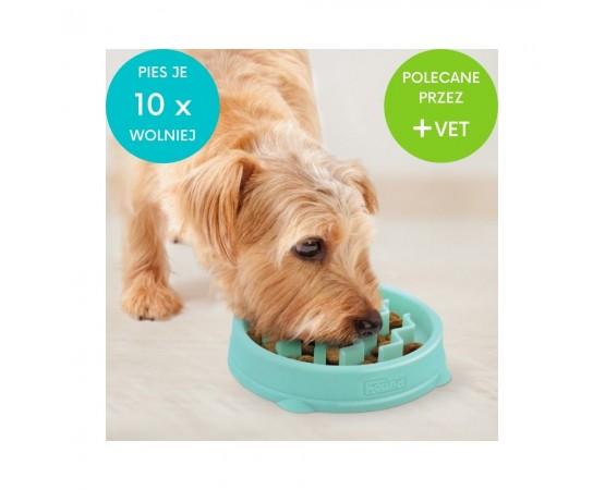 Miska dla psa do powolnego i zdrowego jedzenia z antypoślizgową podstawą 13 cm XS - Outward Hound Fun Feeder