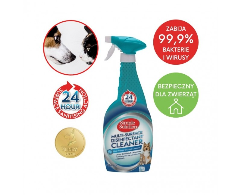 Płyn dezynfekujący 99,9% bakterie i wirusy 750 ml - Simple Solution Multi-Surface Cleaner