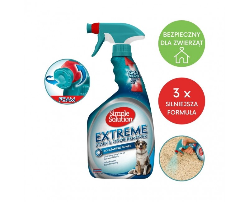 Płyn do usuwania plam i zapachów z każdej powierzchni 945 ml - Simple Solution Extreme Stain & Odour Remover