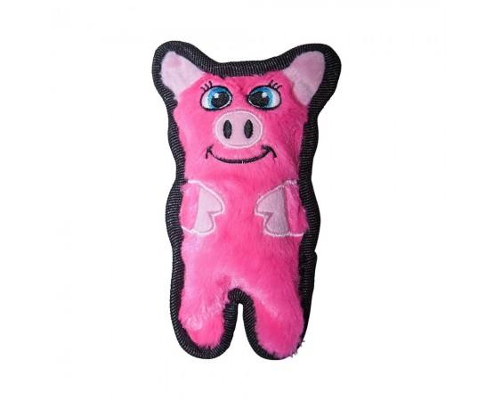 Zabawka dla psa waleczny prosiaczek z piszczałką15,5 cm rózowy - Outward Hound Invincibles Minis®