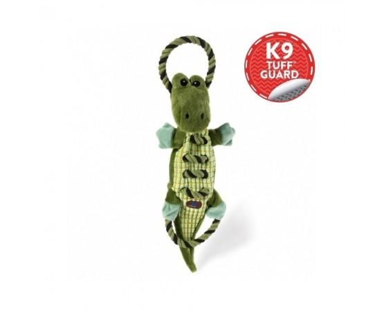 Krokodyl – ultra wytrzymała zabawka dla psa z 3 piszczałkami 55 cm - Petstages Ropes A Go-Go