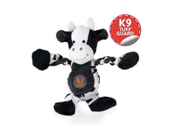 Krowa zabawka-szarpak dla psa z piszczałkami 30 cm - Petstages Pulleez