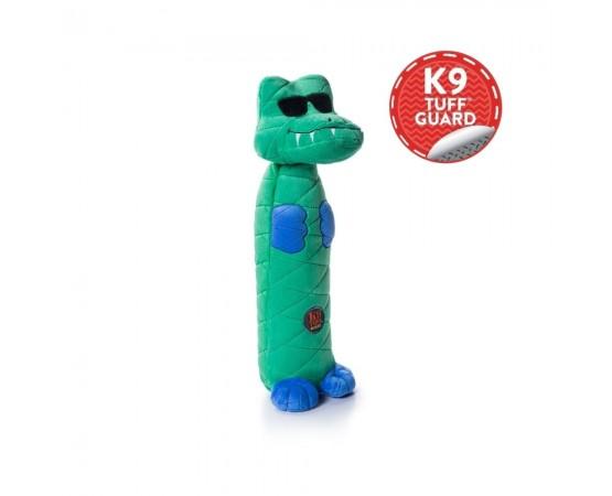 Aligator - rewelacyjna pluszowa zabawka dla psa z trzeszczącą butelką pet w środku  40 cm - Petstages Bottle Bros