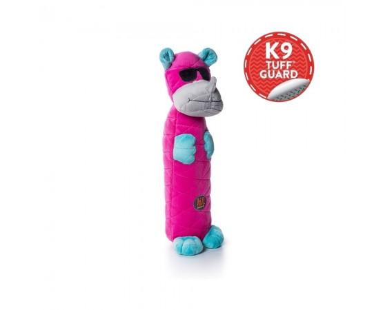 Nosorożec - rewelacyjna pluszowa zabawka dla psa z trzeszczącą butelką pet w środku  40 cm - Petstages Bottle Bros