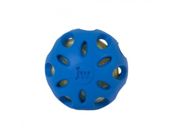Piłka z odgłosem zgniatanej butelki PET S 6,5 cm niebieska - JW SRACKLE BALL