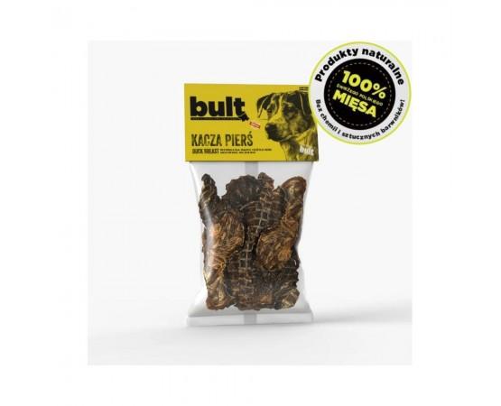 Smaczki 100% mięsa - pierś z kaczki 100g paski - 100% naturalne przysmaki - BULT