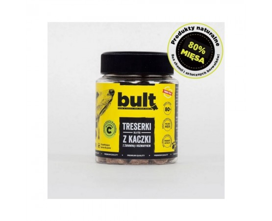 Treserki dla psa z kaczki 120g - 100% naturalne przysmaki - BULT
