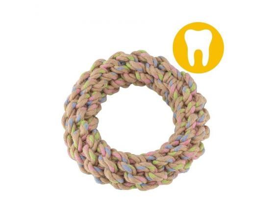 Obręcz zabawka dla psa z konopi L 12,5 cm - Becco Pets