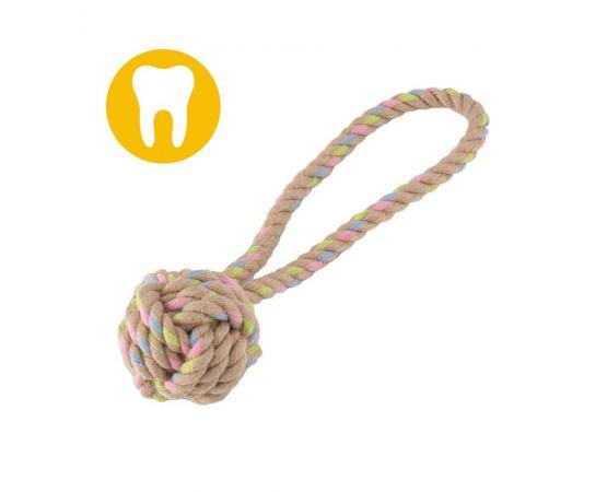 Piłka z konopi na sznurze dla psa L 9 cm - produkt eko - Beco Pets