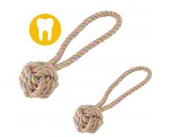 Piłka z konopi na sznurze dla psa M 7 cm - produkt eko - Beco Pets