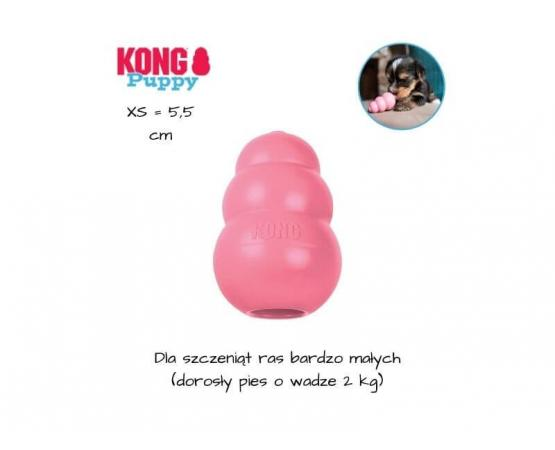 KONG Puppy dla szczeniaka - rozmiar XS - różowy
