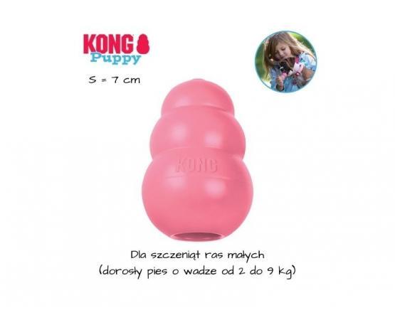 KONG Puppy dla szczeniaka - rozmiar S - różowy
