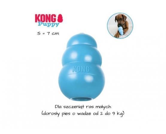 KONG Puppy dla szczeniaka - rozmiar S - niebieski