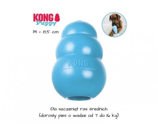 KONG Puppy dla szczeniaka - rozmiar M - niebieski
