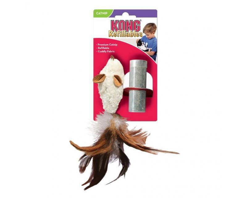 Zabawka dla kota MYSZ z kocimiętką 10 cm - KONG Refillable Mouse