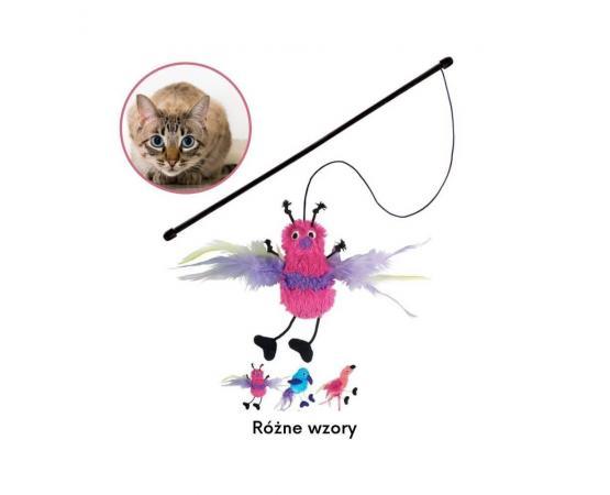 Zabawka dla kota - wędka z pluszowym zwierzakiem z kocimiętką - KONG