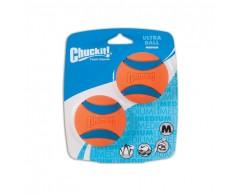 Super wytrzymała piłka CHUCKIT! ULTRA BALL M 6,5 cm - zestaw 2 sztuki